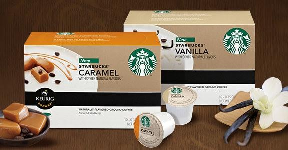 Starbucks® flavored K-Cup® packs.