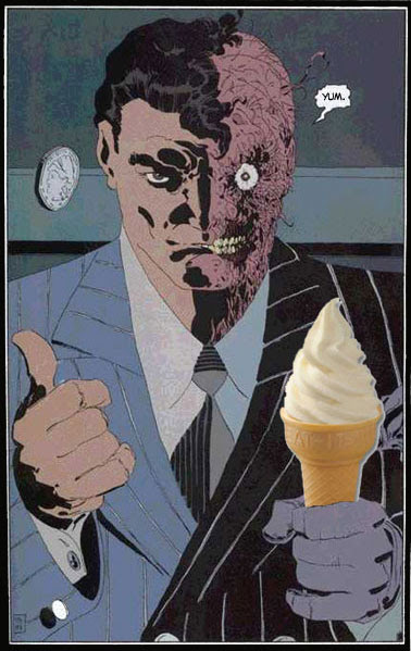 Two-Face Ice Cream