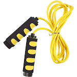 Juvale Jump Rope - Skipping Rope for Kids, Men, and Women - Weight-Loss Fitness Lightweight and Adjustable Speed Rope with Anti-Slip Foam Grip Handles