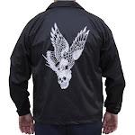 Men's Vengeance by 2 Cents Skull Eagle Tattoo Windbreaker Jacket