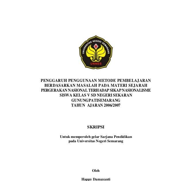 Contoh Judul Skripsi Manajemen Pendidikan Contoh 36