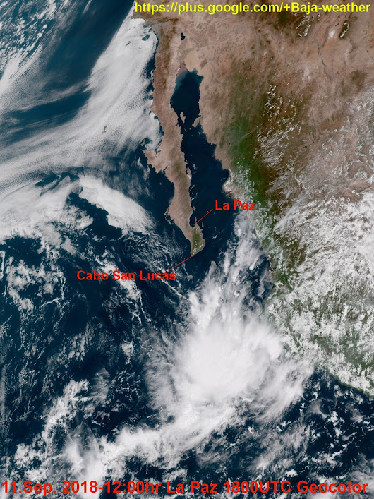 11.September 2018 - 12:00hr Baja Sur time,... - Baja Weather