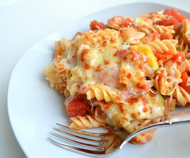 Pasta & Summer Vegetable Bake