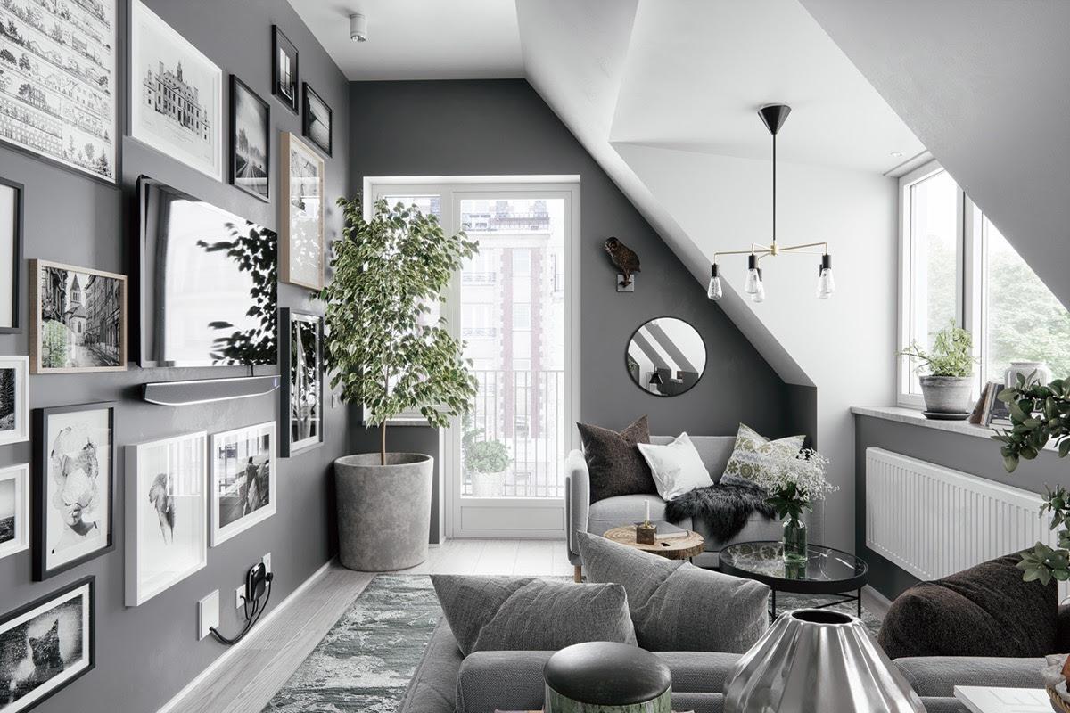 26 Gorgeous Attic Apartments That Use Grey As Base