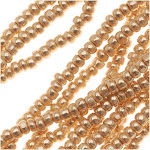 Czech Charlotte Seed Beads 13/0 Metallic Gold 1/2 Hank