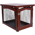 Merry Products Large 2-in-1 Configurable Pet Crate and Gate, Large