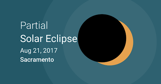 Eclipses visible in Sacramento, California, USA - Aug 21, 2017 Solar Eclipse