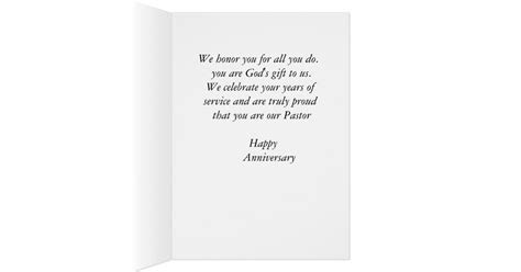 Happy Anniversary Pastor Card   Zazzle