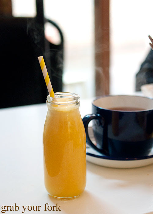 freshly squeezed orange juice at fika swedish kitchen cafe manly