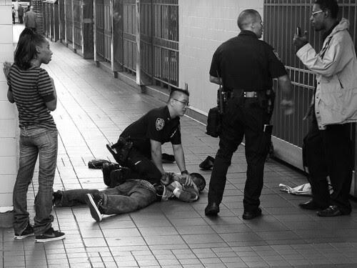 Arrest below ground, NYC