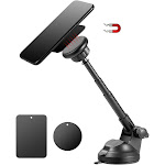 Insten Universal Magnetic Dashboard and Windshield Car Mount Phone Holder with Metal Telescopic Extension Arm
