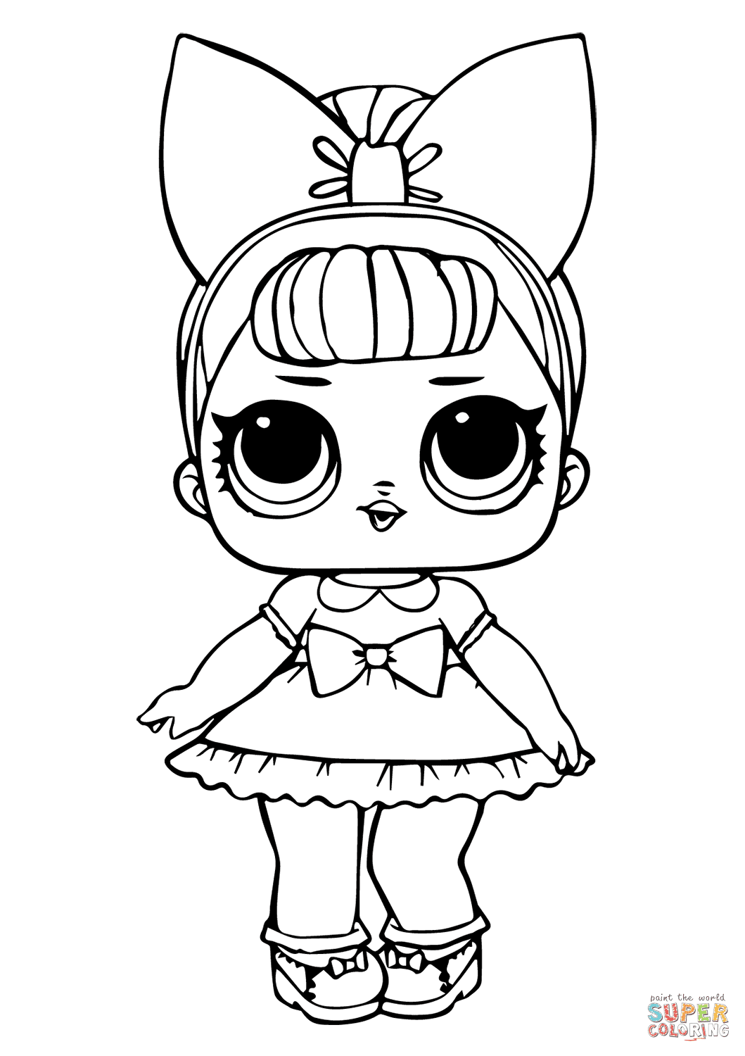Fancy Glitter LOL Surprise Doll coloring page | Free ...