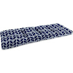 Jordan Manufacturing 38 in. French Edge Outdoor Bench Cushion - Bogatell Bogatell Oxford