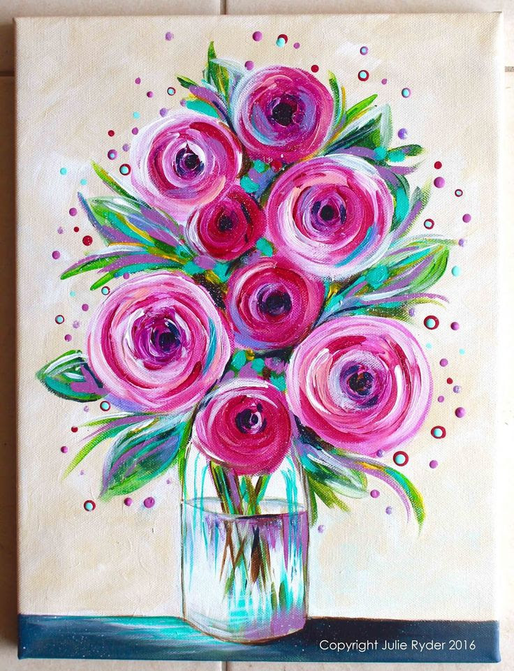 Watercolor Painting Flowers For Beginners At Getdrawingscom Free