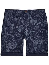 River Island Blue Indigo Floral Shorts