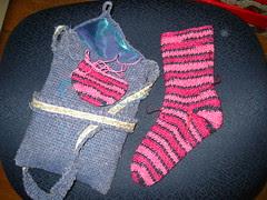 Regular Sock Bag and WIP