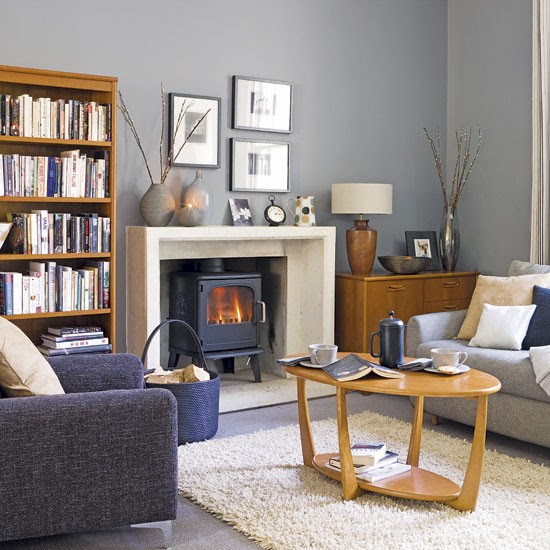 Grey and blue living room | Living rooms | Design ideas ...