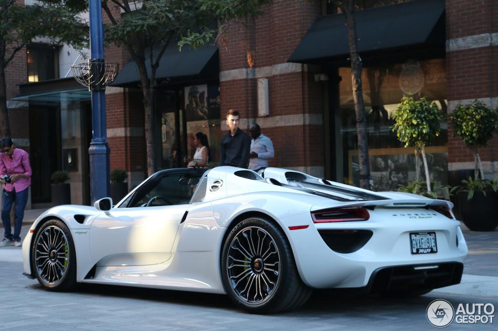 Canada Porsche 918 Spyder Registry