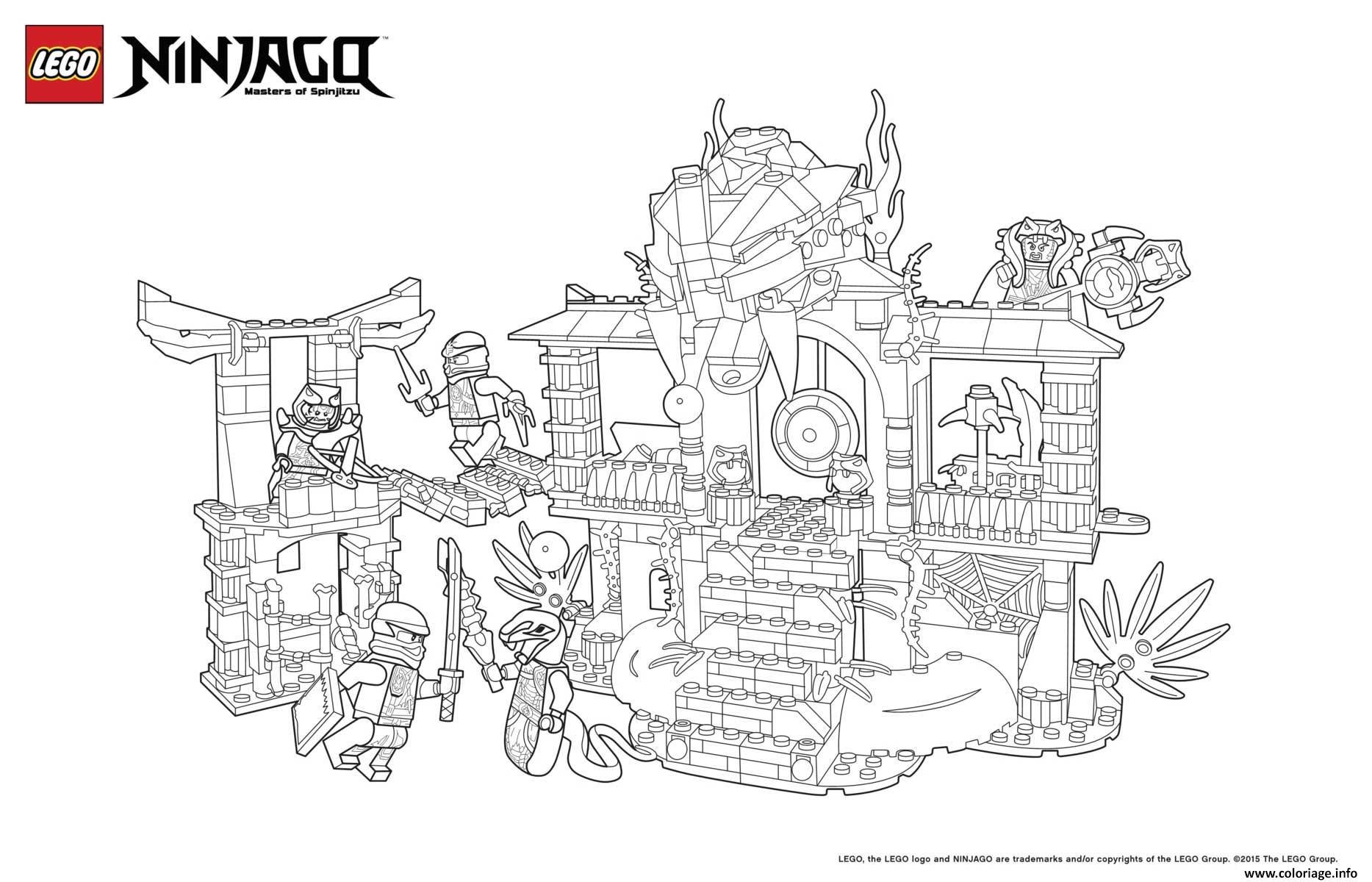 Coloriage Le Palais De Ninjago Lego Dessin  Imprimer