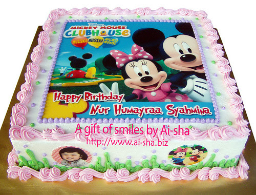 Birthday Cake Edible Image Mickey Mouse