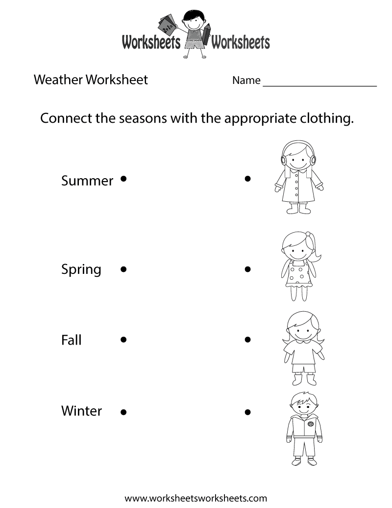 weather worksheet NEW 460 FREE