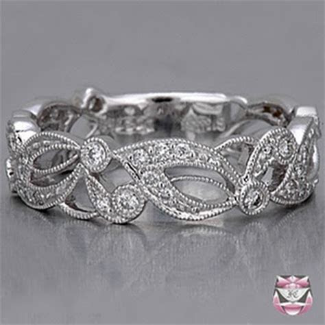 Beverleywide Diamond Floral Eternity Band9091 Ring   cheap