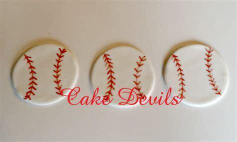 Fondant Baseball CupCake Toppers, Baseball Cake