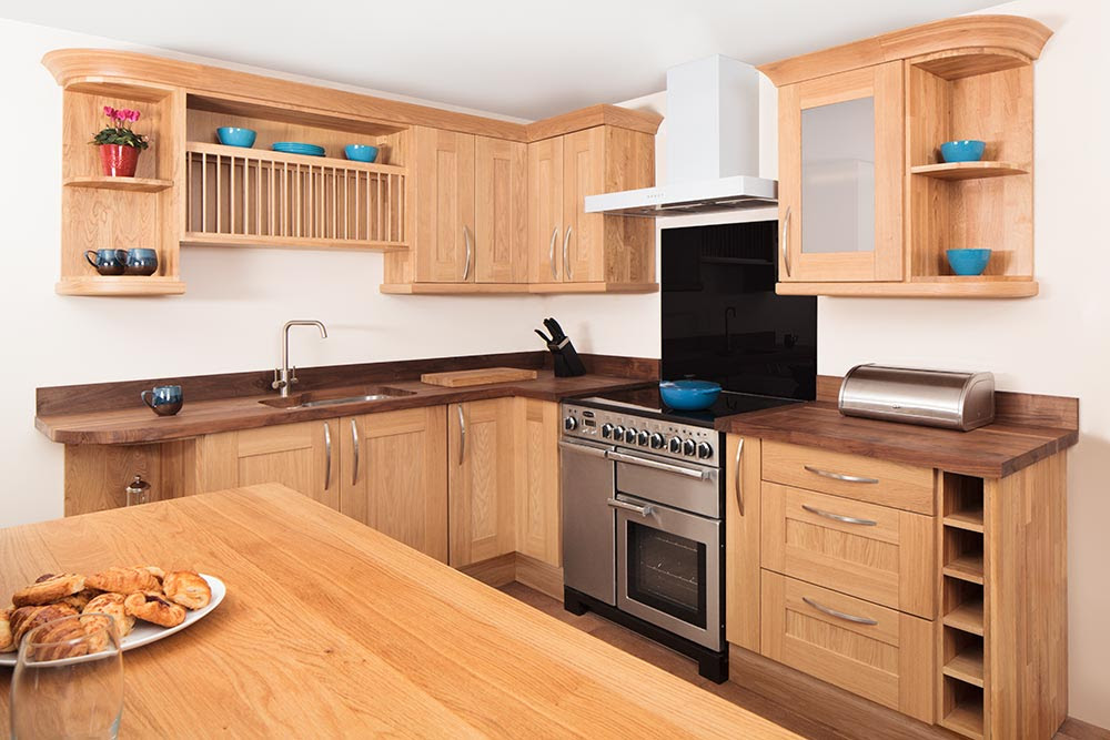 Specialist Solid Oak Kitchen Cabinets in Curved, Belfast ...
