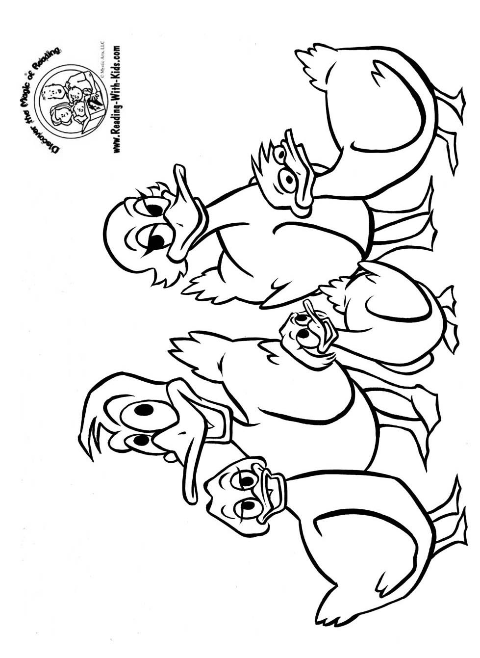 Five little ducks coloring pages download and print for free