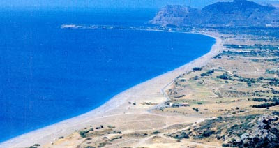 Playa de Afantos en Rodas