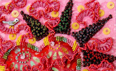 bead embroidery by Robin Atkins, Bead Journal Project, January 2008
