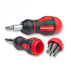 Platinum Tools 8-In-1 Ratcheted Stubby - Ratcheting screwdriver with bit set