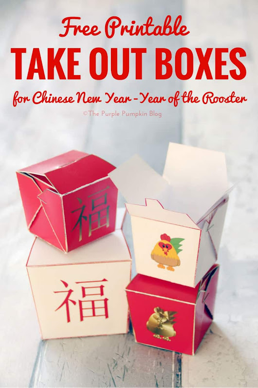 Free Printable Chinese Take Out Boxes for Chinese New Year