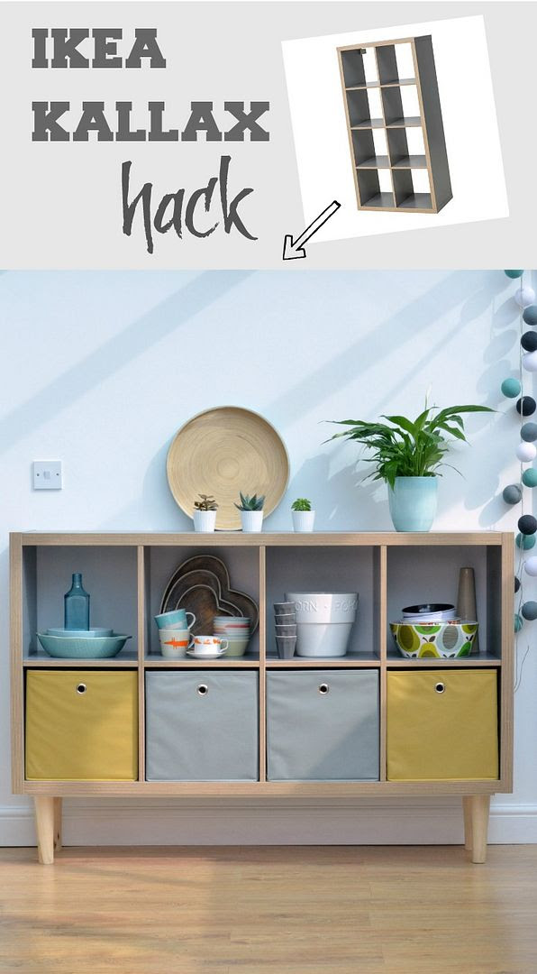 How to create a sideboard with tapered legs from IKEA Kallax