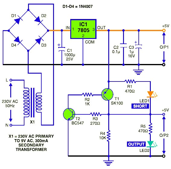Scematic Diagram Panel  Short Circuit Protection Circuit