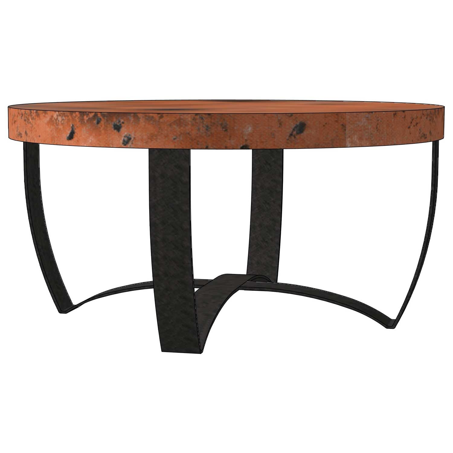 Round Strap Coffee Table Base Only | Round Iron Coffee ...