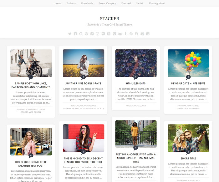 Stacker Blogger Template