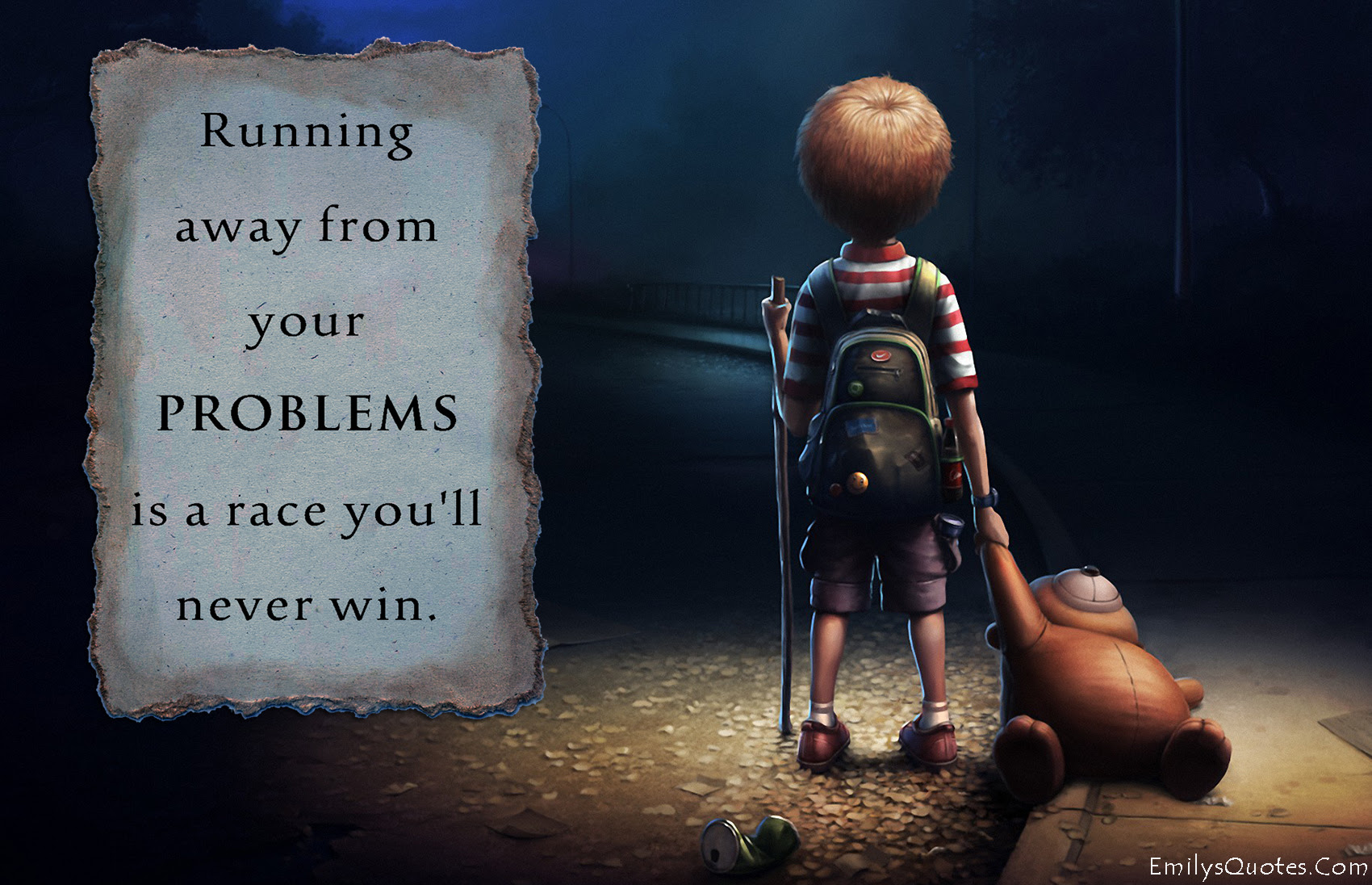 Running Away From Your Problems Is A Race Youll Never Win Popular