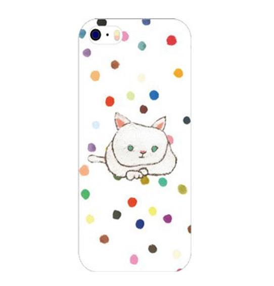 猫イラストスマホケースビジュbijou宝石 ハンドメイド