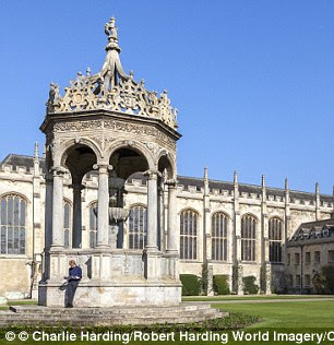 The Great Court at Trinity College, Cambridge. Cambridge ranked second in the list of elite universities
