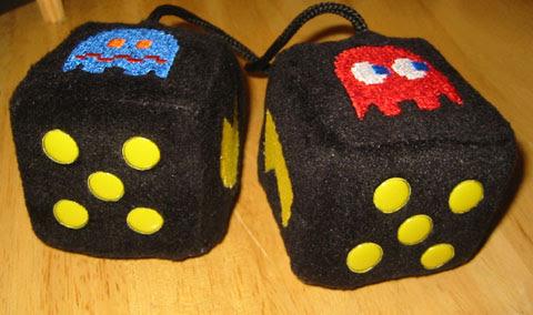 Pac-Man Fuzzy Dice