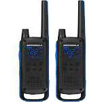 Motorola Talkabout T800 35-mile Two-way Radio Pair - Black/Blue - FRS - 462-467 MHz - 11 weather channels (7 NOAA) - Weatherproof
