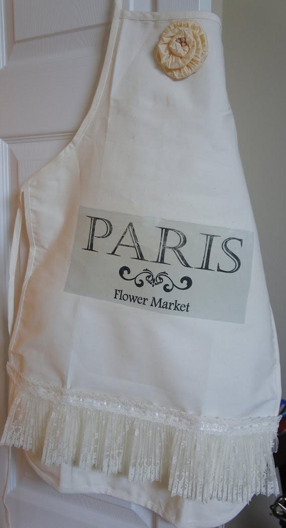 Paris Flower Market Apron - Adult size