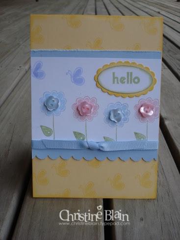 HELLO AGAIN CARD