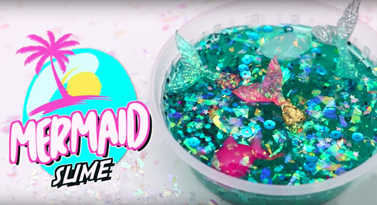 DIY Mermaid Slime | How To Make An Easy Slime Recipe