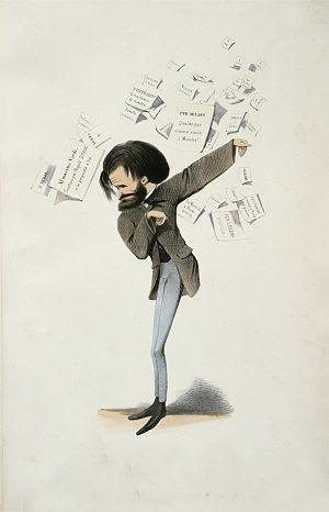Caricature of Giuseppe Verdi.