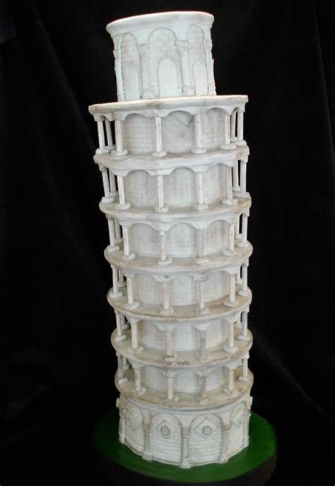 The Leaning Tower of Pisa   Cake by The Cake Diosa