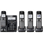 Panasonic KX-TGF544B Expandable Cordless Phone with 3 Handsets - Black