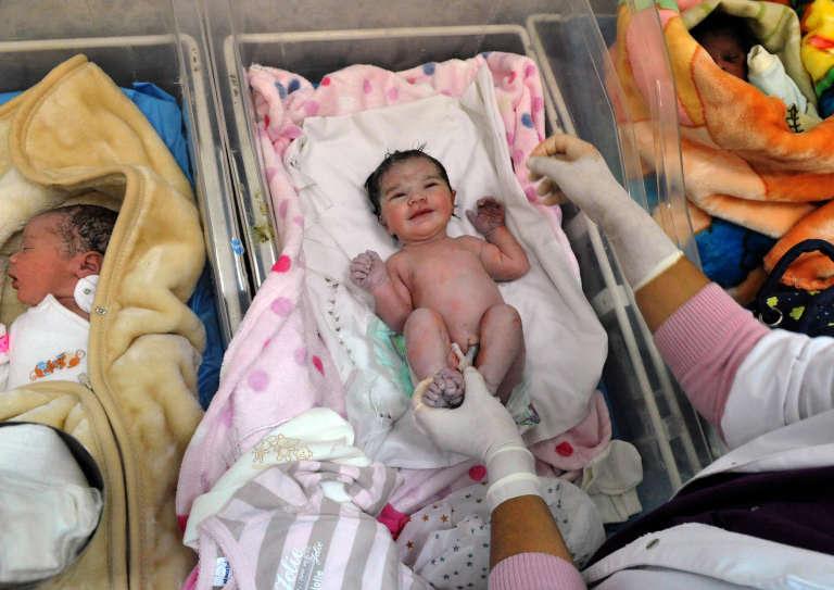 Dans une maternité de Rabat, au Maroc, en octobre2011.