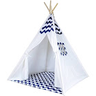 A Mustard Seed Toys Navy Chevron Kids Play Tent, No Added Chemicals, Includes Carrying Case